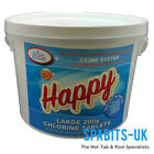 Happy Chlorine Tablets 200g 5kg Swimming Pools Hot Tubs Spas