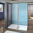 Aica 2000 Wet Room Shower Screen Enclosure Panel 8mm NANO Glass 1200mm Bar