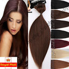 Full Head Clip in 100% Remy Real Human Hair Extensions 8 PICS Standard Set A248