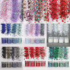 4 Box DIY Nail Art Glitter Powder Colorful Tips Rainbow Mixed Sequins Decoration