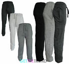 Mens Plain Joggers Jogging Fleece Bottoms Trousers With Pockets Tracksuits Gym