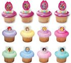 Disney Princess Assorted Glitter Cupcake Rings Cake Toppers Party Favors