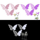 50x Butterfly Laser Cut Name Card Wedding Favor Mark Wine Glass Table Decor