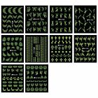 BMC Glow in the Dark Nail Polish Art Stickers-10 Sheet Sets or Individual Sheets