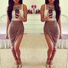 Women Casual New Fashion Sexy Package Hip Cut Out Asymmetrical Skirt EN24H01