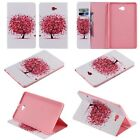 Cute little red tree Stand Leather Cover Skin case with card holder for tablet