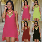 Fashion Women Casual Summer Sleeveless Evening Party Cocktail Short Mini Dress