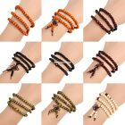 New Fashion Men Women Casual Elastic Multilayer Beaded Charm Bracelet EN24H01