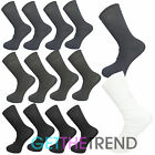 3,6,9,12 Mens Rib Elastic Socks Ribbed 100% Cotton Multipack Loose Sock 6-11