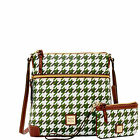 Dooney & Bourke Houndstooth Crossbody & Med Wristlet