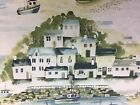 St Ives By the Sea Blue  Designer Cotton  Curtain/Craft Fabric