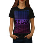 Wellcoda Relax Quote Chill Womens T-shirt, Funny Casual Design Printed Tee image