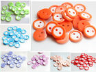 50pcs Mix colorful Coconut Shell 2 Holes Buttons fit Sewing Scrapbooking 10mm
