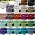 15 Colors - Machine Washable 100% COTTON Ribbed Table Runner –  2 Sizes