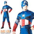 Deluxe Captain America Muscle Mens Marvel Avengers Superhero Costume + Mask New