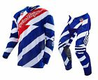 NEW 2016 TROY LEE DESIGNS SE AIR CAUTION GEAR COMBO NAVY/WHITE SIZE 32/LRG
