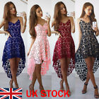 Boho Womens Floral Lace Dress Party Cocktail Swing Dresses Summer Beach Sundress