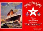 Vintage RMS Brittanic White Star Line Shipping Poster