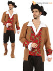 Mens Ladies Caribbean Pirate Captain Costume  Fancy Dress Outfit Halloween Party