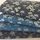 Floral Printed  Denim fabric 100% cotton sold per half metre 145cm  wide