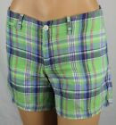 Ralph Lauren Sport Green Blue Purple Plaid Shorts NWT