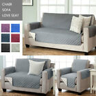 Anti-Slip Sofa Cover Reversible Furniture Protector with Features Elastic Strap