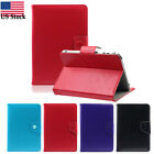 Universal Leather Magnetic Slip Stand Back Front Cover Case For 9 Inch Tablet PC