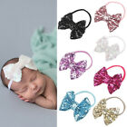 Newborn Baby Infant Kids Glitter Bowknot Hair Band Bow Elastic Headband Headwear