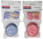 SUMMER PICNIC 48pc CUPCAKE CUPS+FLAG PICKS Patriotic 4TH OF JULY *YOU CHOOSE 5/9