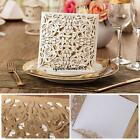 25 Gold Invitations Cards Wedding Birthday Party Personalized #C Envelopes Seals