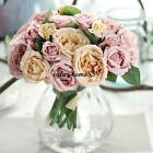 1Bouquet 9Heads Persian Buttercup #C Artificial Flower Home Garden Wedding Decor