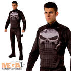 The Punisher Mens Fancy Dress Marvel Superhero Villain Adults Halloween Costume