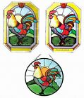 Silver Creek Rooster ~ Bird Suncatcher & Chain with Zinc Frame ~ 3 Selections