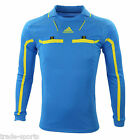 adidas HOMMES MANCHES LONGUES ARBITRE PULL-OVER TAILLE XL CHEMISE BLEU