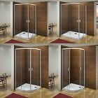 Aica Quadrant Corner Entry Shower Enclosure & Tray Walk In Cubicle Glass Door