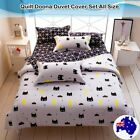 Batman Black Duvet Doona Quilt Cover Set Single/Queen/King Size Pillow case New