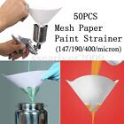 50X 147/190/400 Micron Paper Nylon Paint Strainer Filter Purifying Straining Cup