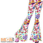Groovy Flared Pants Ladies Fancy Dress 1970s 60s Adults Womens Costume Trousers