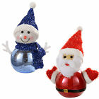 WeRChristmas Snowman, Santa with Colour Changing LED Body Christmas Decoration