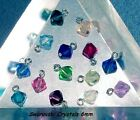 Add DIY Birthstone Crystal Bead to Your Charm For Bracelets Women's All Colors