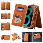 Removable Zipper Handbag Faux Leather Wallet Case Cover For Samsung S8/S8 Plus