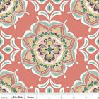 VALENCIA  MEDALLION FLORAL CORAL RILEY BLAKE QUILT SEWING FABRIC Free Oz Post
