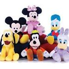"Disney Soft Toys Mickey Mouse Minnie Donald Duck Pluto Plush Cuddly 8"" New"