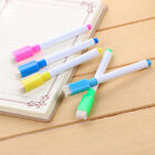 5/10Pcs Kids Dry Wipe White Board Markers Drawing Pens Window Built In Eraser