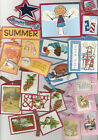 U CHOOSE Homemade Handmade SCRAPBOOKING TAGS assorted Summer USA Easter Fall etc