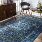 nuLOOM Persian Overdyed Vintage Traditional Distressed Area Rug in Blue