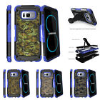 For Samsung Galaxy S8 G950 (2017) Clip Stand Blue Case Abstract Camouflage