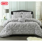 300TC 6 Pce Mabel Jacquard Comforter Set by Accessorize - QUEEN KING
