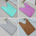 Home Soft Flannel Blanket Toilet Anti Slip Rug Bath Room Mats U-Shaped Non Slip