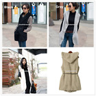 Women Winter Warm Long Faux Fur Coat Lapel Parka Jacket Cardigan Overcoat + Belt